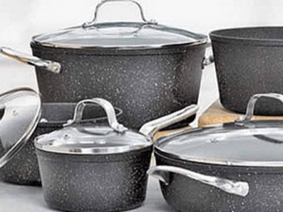Heritage The Rock Forged Non‐Stick Cookware Set
